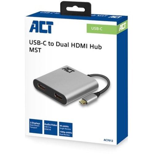 ACT ACT | USB-C naar dual HDMI Hub