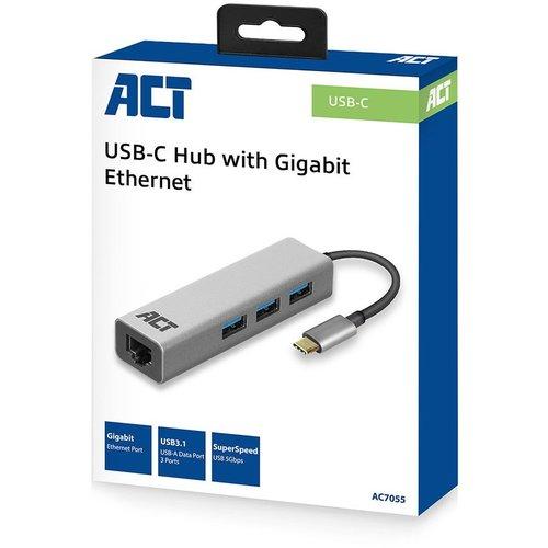 ACT ACT | USB-C Hub with RJ-45 poort