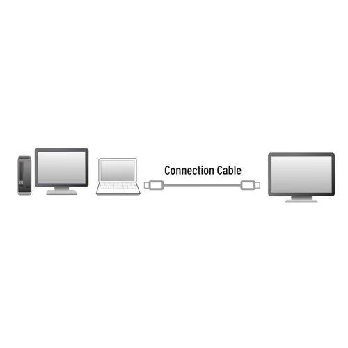 Eminent Converter Type-C - Display Port male 1.8 Meter, 4k