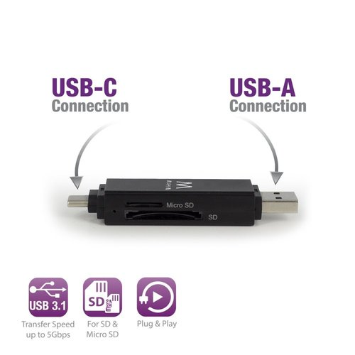 Ewent USB 3.1 Cardreader Type C / A