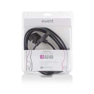 Ewent EW9180 electriciteitssnoer Zwart 3 m CEE7/7 C5 stekker