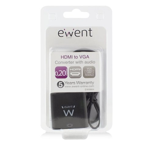 Ewent Converter Cable HDMI male - VGA female with audio 0.15