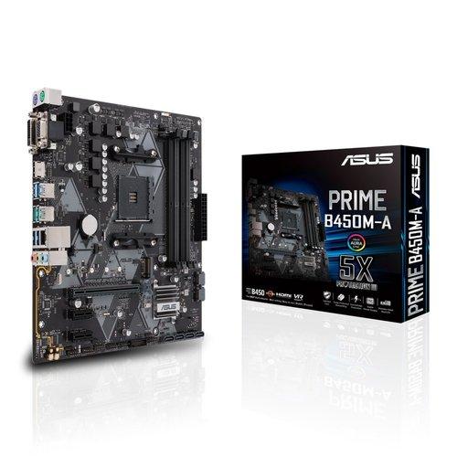 Asus ASUS PRIME B450M-A moederbord Socket AM4 Micro ATX AMD B450