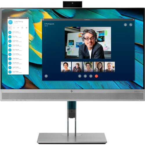 "Hewlett Packard HP EliteDisplay E243m 60,5 cm (23.8"") 1920 x 1080 Pixels Full HD LED Zwart, Zilver"