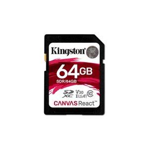 Kingston SDCARD  Canvas React SD Class10 64GB (refurbished)
