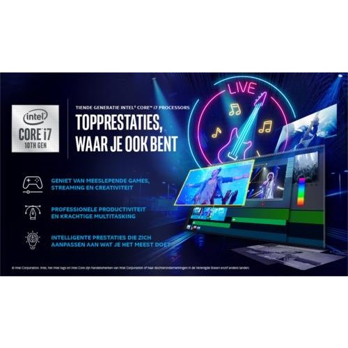 Intel NUC BXNUC10I7FNH2 PC/workstation barebone i7-10710U 1,