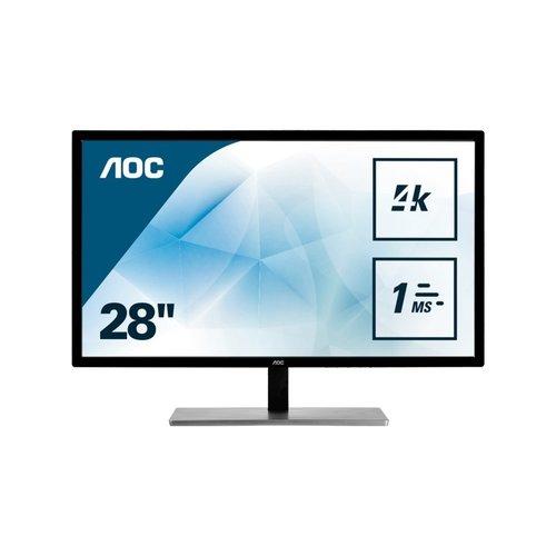 "AOC Value-line U2879VF computer monitor 71,1 cm (28"") 3840 x 2160 Pixels 4K Ultra HD LCD Zwart"