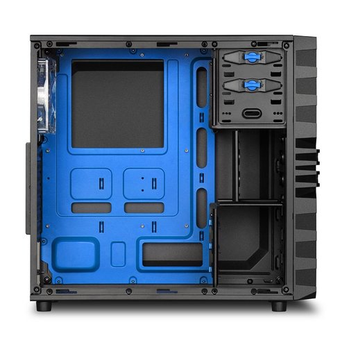Sharkoon Case  VG4-W Midi Tower Zwart, Blauw