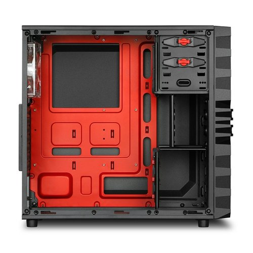 Sharkoon Case  VG4-W Midi Tower Zwart, Rood