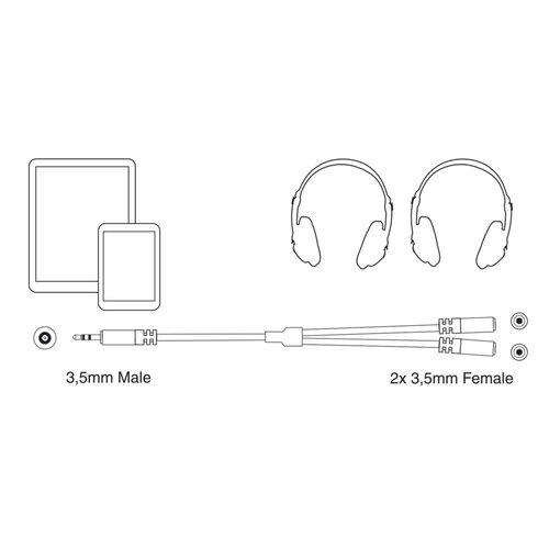 Ewent Professional Audio Splitter Mini Jack M- F 0.15m