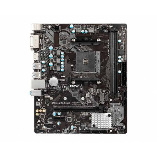 MSI MB  A320M-A PRO MAX / AM4 / 1x PCI-E / m.2 / mATX (refurbished)