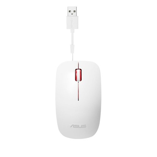 Asus ASUS UT300 muis USB Type-A Optisch 1000 DPI White / Red