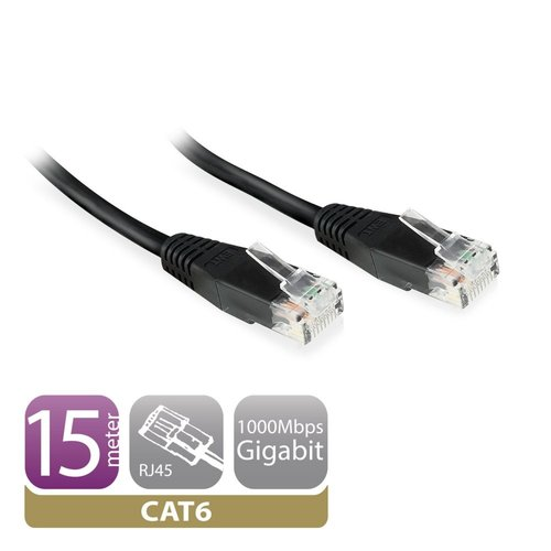 Ewent CAT6 Networking Cable copper 0.9 Meter Black