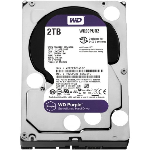 Western Digital HDD WD Purple™ 2TB IntelliPower - 64MB - SATA600 3.5inch