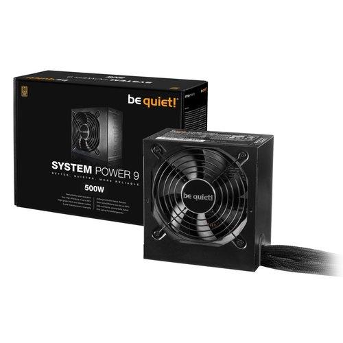 be quiet! PSU Be quiet! System Power 9 500W 20+4 pin ATX ATX Zwart