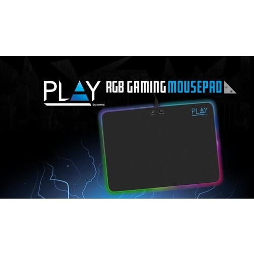 Play by Ewent PL3341 Gaming Muismat met RGB-verlichting