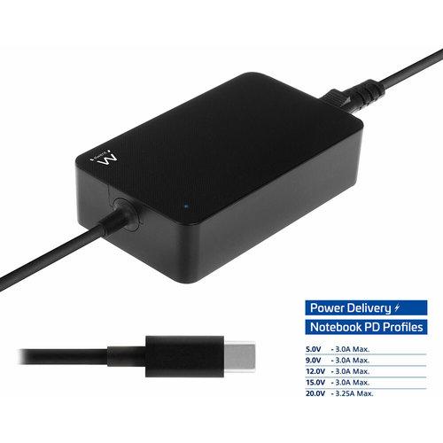 Ewent EW3980 USB - C oplader voor laptops