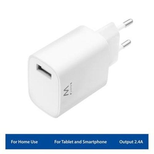 Ewent EW1301 1-Poorts Compacte USB Lader 2.4A
