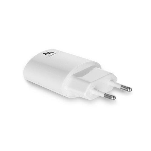 Ewent EW1263 Ewent USB thuislader (wit) en USB autolader (zwart)