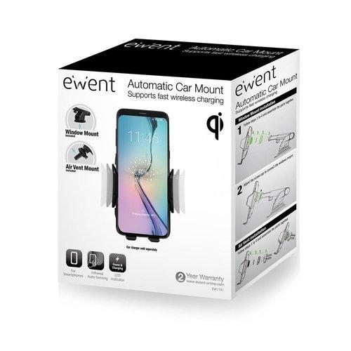 Ewent EW1192 Draadloze smartphonehouder met Qi ondersteuning