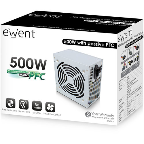 Ewent EW3907 Replacement PC voeding 500W
