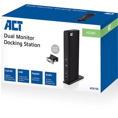 ACT AC6150 USB 3.2 Gen1 Docking station