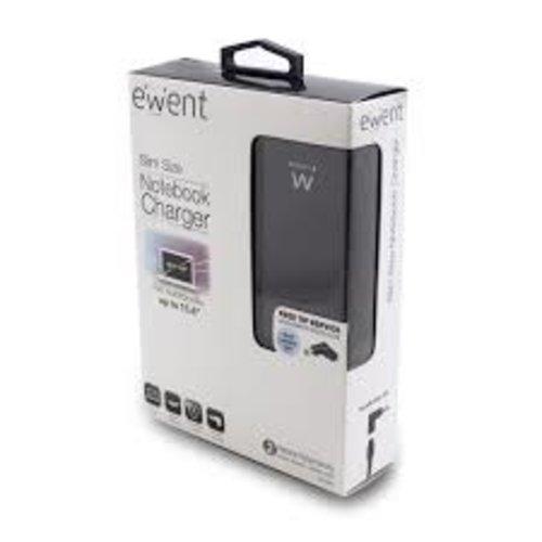 Ewent EW3985 Compacte laptoplader, voor laptops t/m 15.6 inch
