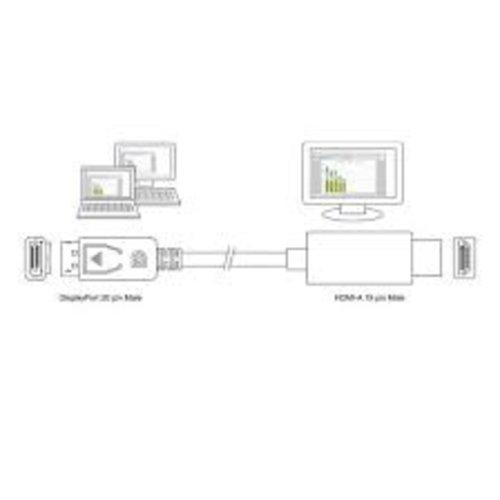 Ewent EW9868 DisplayPort male naar HDMI male adapterkabel