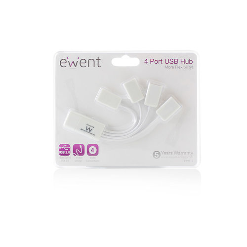 Ewent EW1110 Flexibele 4 Poort USB Hub