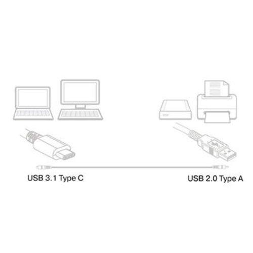 Ewent EW9641 USB-C 2.0 naar UCB-A Aansluitkabel 1m