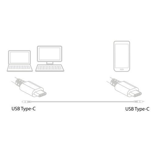 Ewent EW9648 USB 3.2 Gen2 Type-C naar Type-C Aansluitkabel 1m