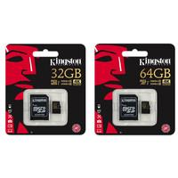 Kingston Micro SD 64 GB kaart  - 4K Ultra HD