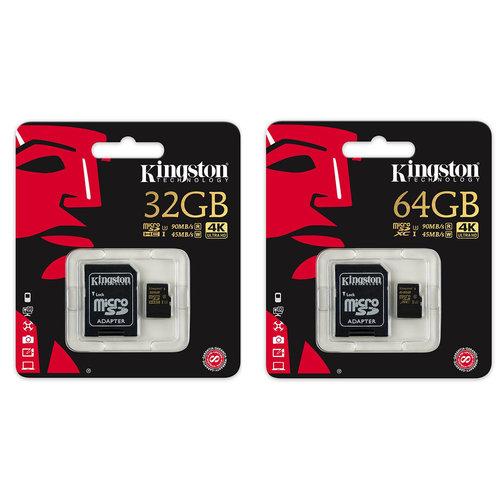 Kingston Kingston Micro SD 64 GB kaart  - 4K Ultra HD