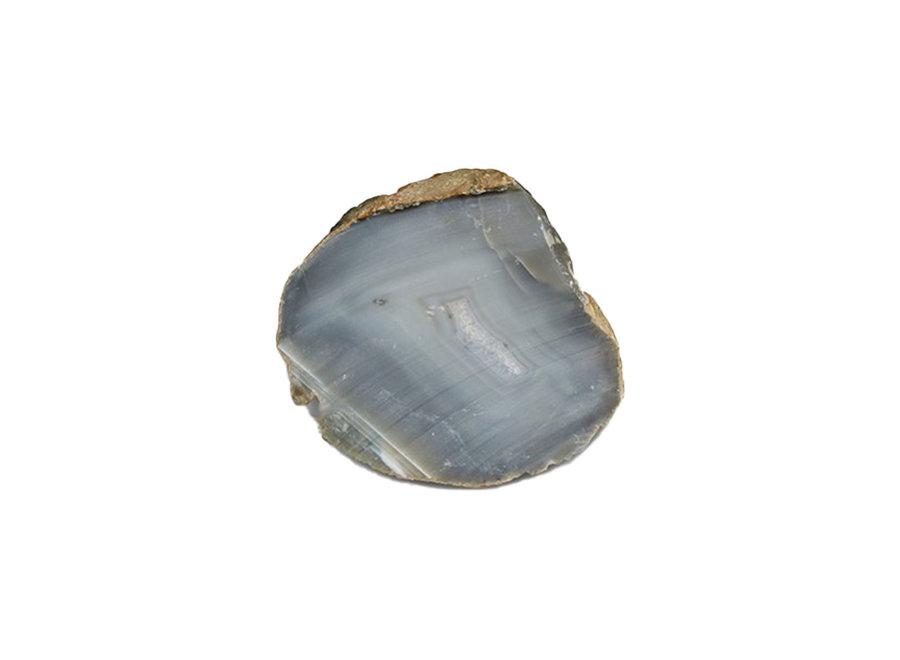 Edelsteen armband facet geslepen grijze agaat