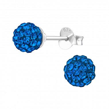 Zilveren oorstekers met Swarovski kristallen-3