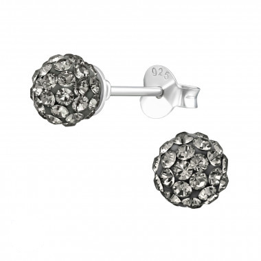 Zilveren oorstekers met Swarovski kristallen-4