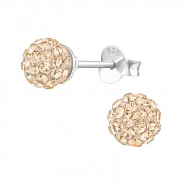 Zilveren oorstekers met Swarovski kristallen-7