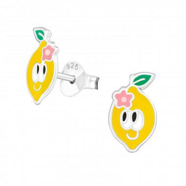 Zilveren oorstekers citroen-1