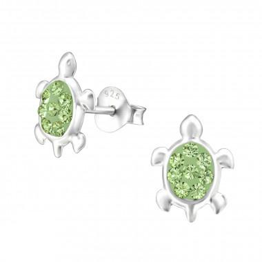 Zilveren oorstekers schildpad-2