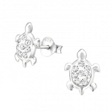 Zilveren oorstekers schildpad-1
