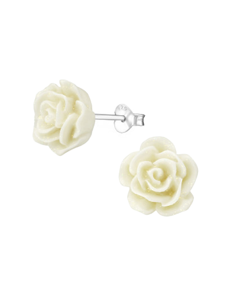 Ear stud rose-3