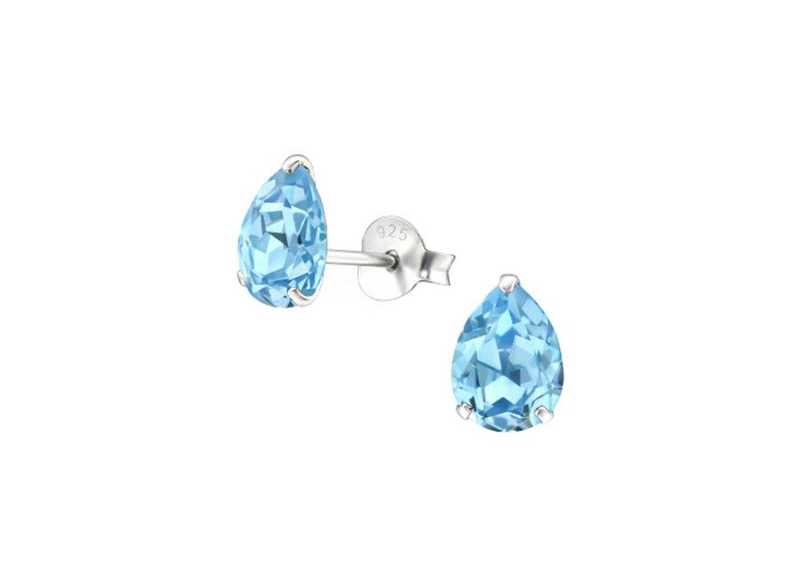 Zilveren oorstekers met zirkonia steen