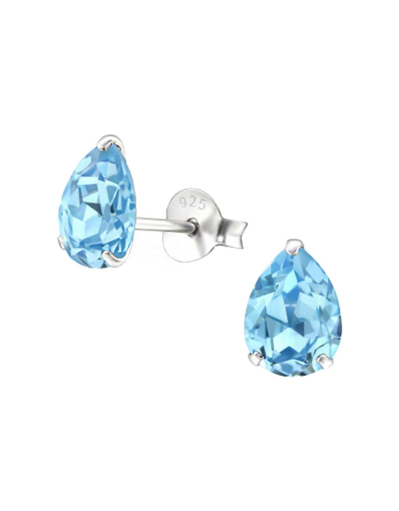 Silver ear studs with zirconia stone-2