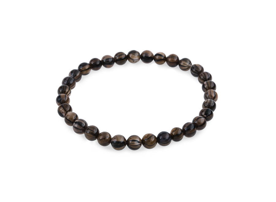 Shell bracelet blackline brown