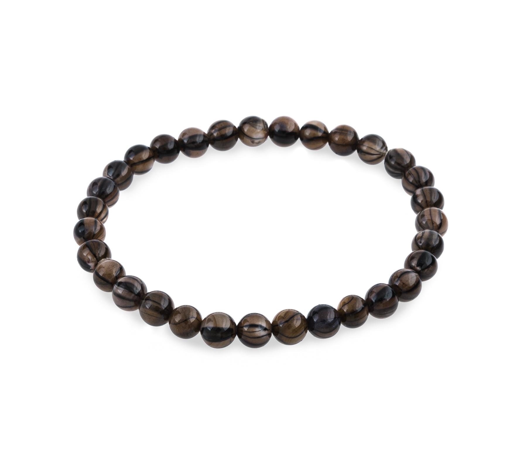 Schelp armband blackline brown-1