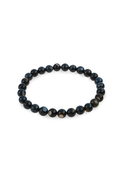 Shell bracelet peacock blue