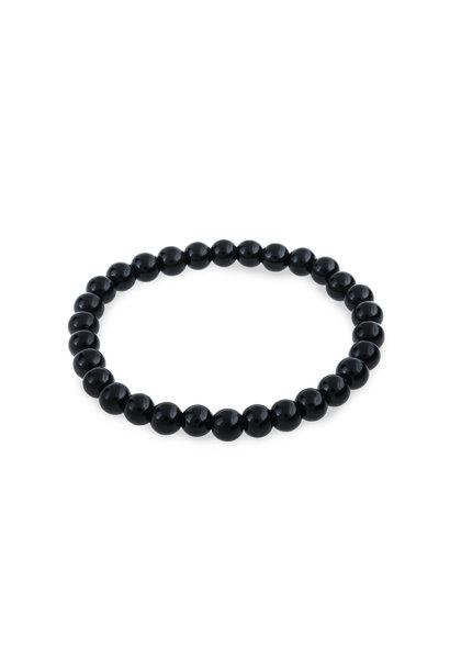 Glasparel armband zwart