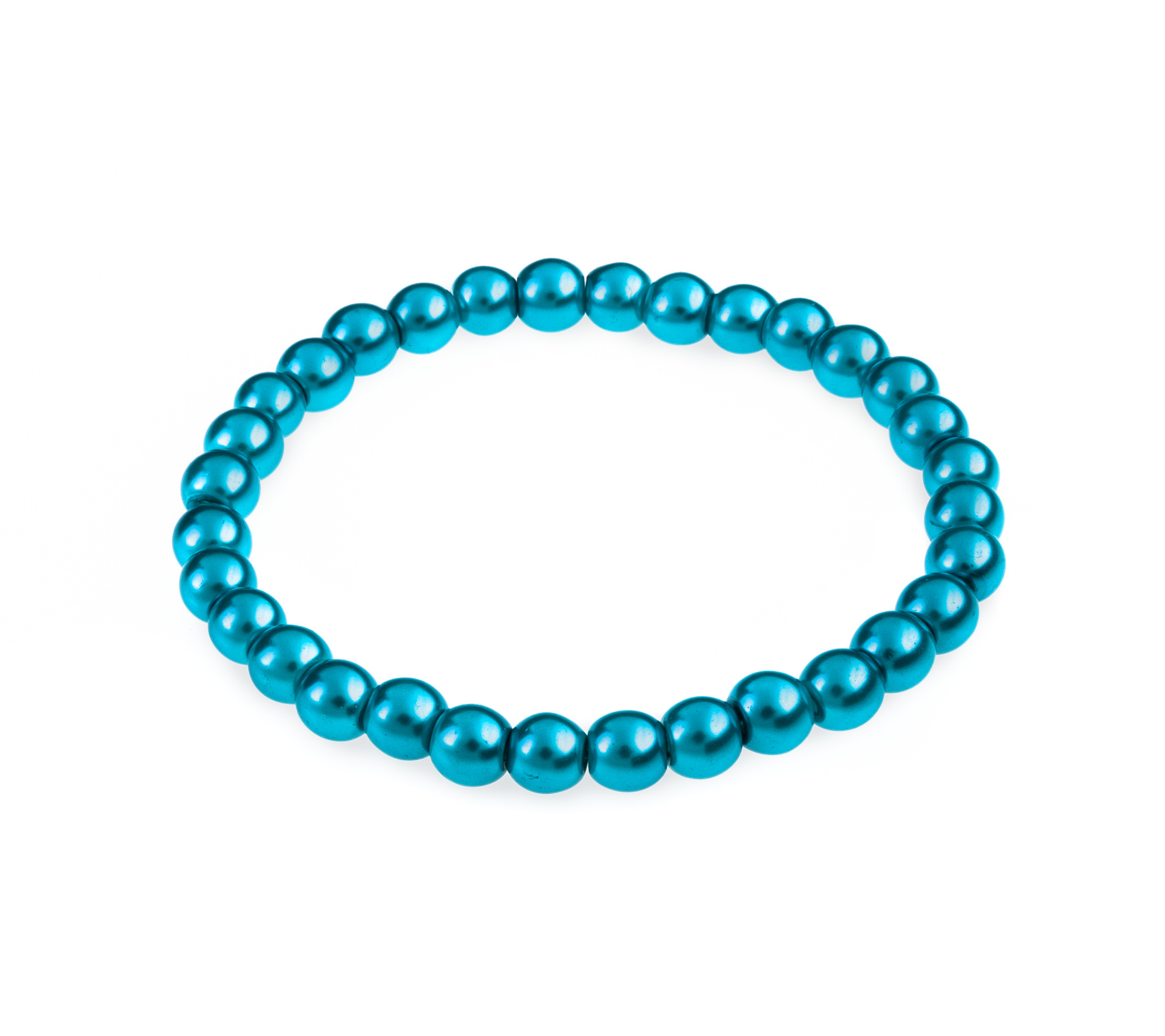Glass pearl bracelet turquoise-1