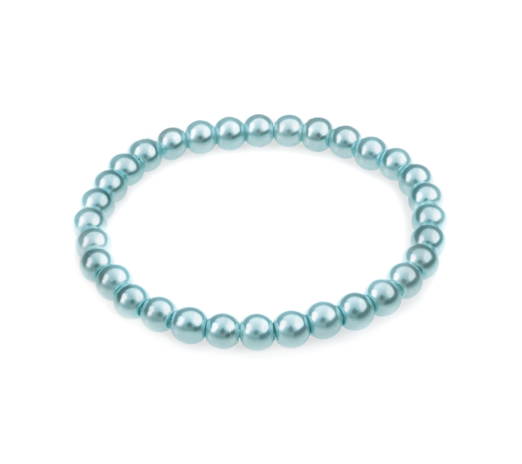 Glasparel armband licht blauw-1