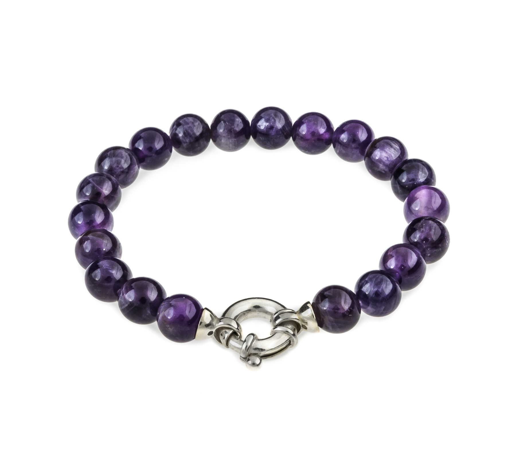 Gemstone bracelet amethyst with lock-1